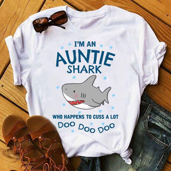 cea7370c Baby Shark I'm An Auntie Shark Doo Doo Doo Shirt - TeePython