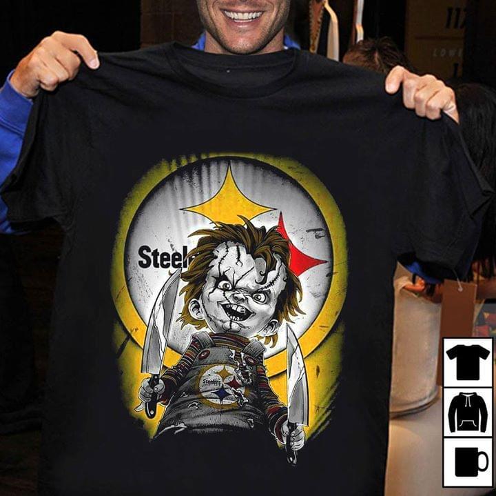 new product 4b0fb 6ad57 Pittsburgh Steelers Chucky Halloween Shirt