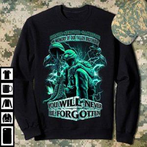 Never Forgotten Fallen Soldier Honor Service Sacrifice T Shirt