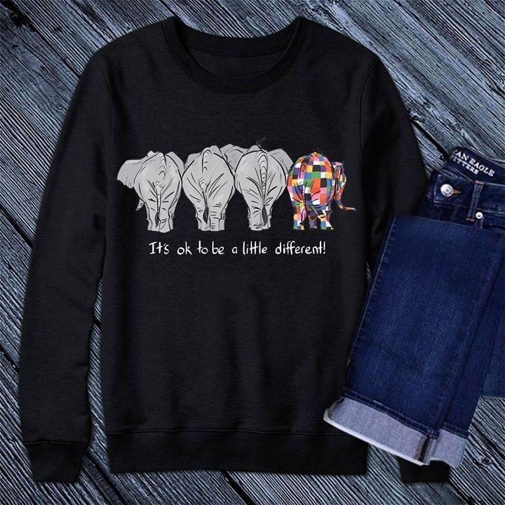 0b8de3a30184 It s Ok To Be A Little Different! Elephant Shirt - TeePython