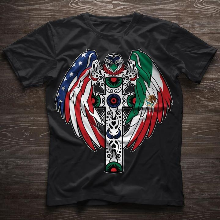 USA Flag Eagle Wings Youth/'s T-Shirt United States Flag Shirts American flag