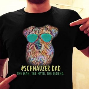 995ee299 Schnauzer Dad The Man The Myth The Legend Shirt - TeePython