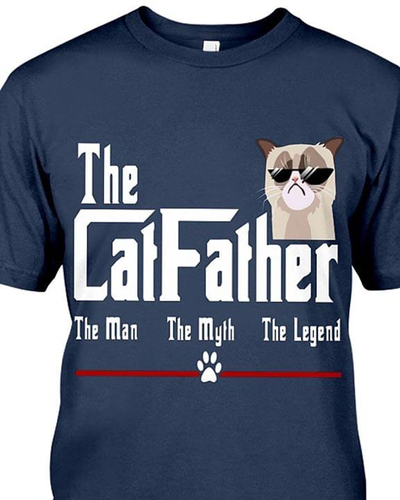 0276e8fbf The Cat Father The Man The Myth The Legend Shirt - TeePython