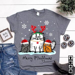 Christmas Merry Fluffmas Cute Cats Squad Shirt