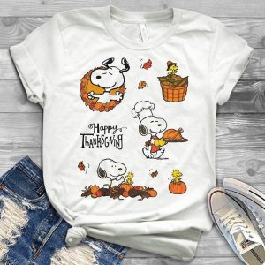 End Of The Fall Happy Thanksgiving Cute Snoopy Shirt