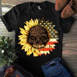 American Sunflower Skull T-Shirt Sweatshirt Hoodie