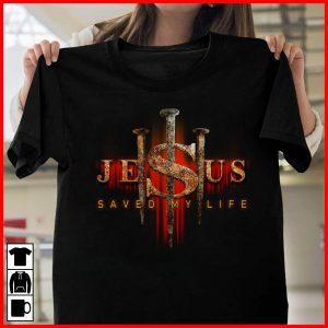 Jesus Saved My Life Gothic Style T-Shirt Sweatshirt Hoodie
