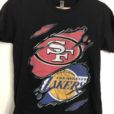 49ERS And Los Angeles Lakers Wild Claws Attack Style T-Shirt Sweatshirt Hoodie