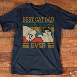 Best Cat Dad Ever High Five Vintage T-Shirt Sweatshirt Hoodie